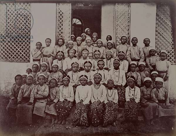A Group of Slave Children, c.1890 (albumen print photograph)