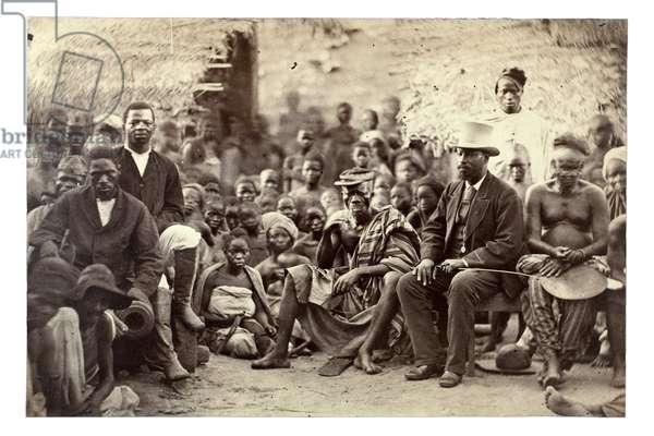 The Chief of Abeokuta and his friends, Nigeria, c.1880 (albumen print)