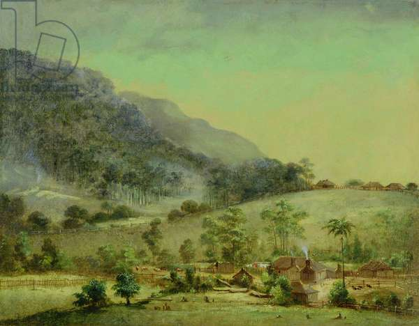 Homesteads, c.1850 (oil on canvas)