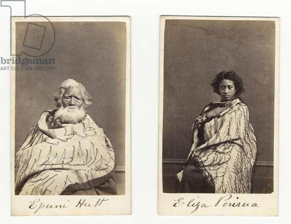 Epuni Hutt and Eliza Porirua, c.1865 (albumen print)