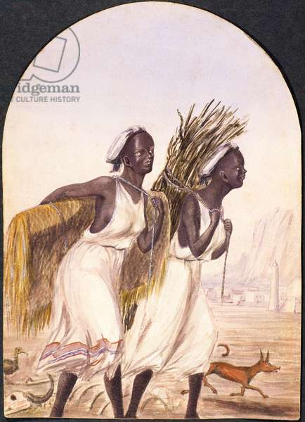 Somali Women at Aden, 1858 (w/c on paper)