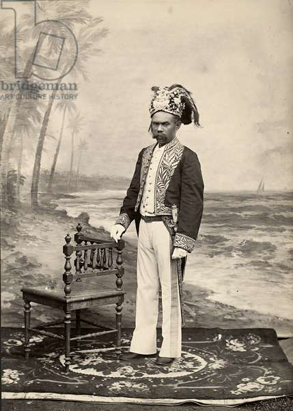 Sultan of Batjan, Pulau Bacan, Maluku Islands, Indonesia (gelatin silver print)