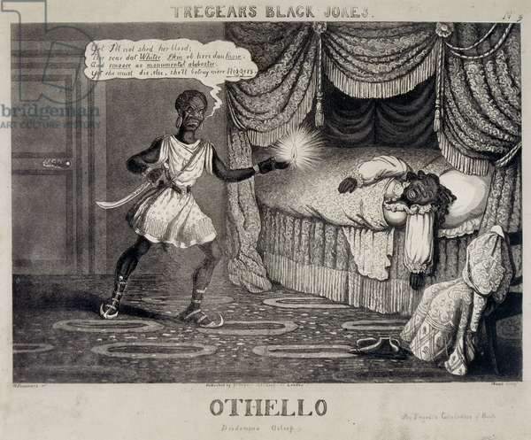 Tregears Black Jokes - Othello, engraved by Hunt, c.1834 (etching, engraving & aquatint) (photo)