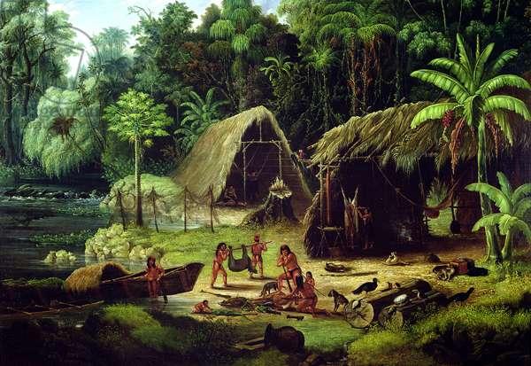 Carib Village, British Guyana, 1836 (oil on canvas)