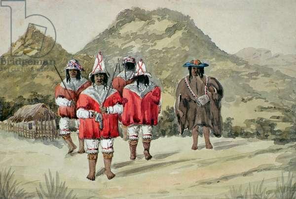 Indios dansantes, c.1875 (w/c on paper)