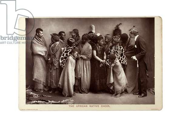 The African Native Choir, London, c.1892 (carbon print)