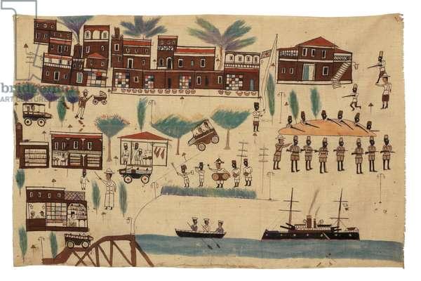 Dar Es Salaam, Tanzania, 1930s (pigment on cloth)