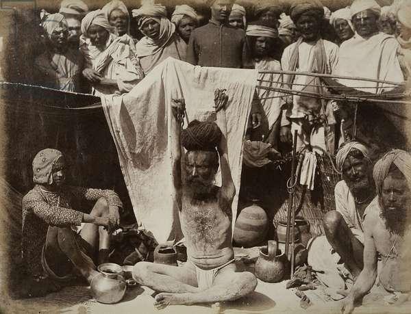Priest at Allahabad (albumen print)