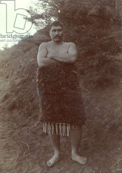 Maori Study, c.1910 (silver gelatin print)