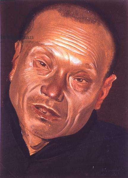 Portrait, 1918 (gouache on paper)