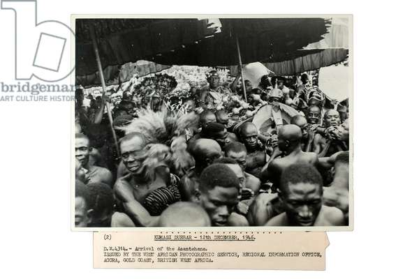 Kumasi Durbar - Arrival of the Asantehene, Ghana, 12th December 1946 (gelatin silver print)
