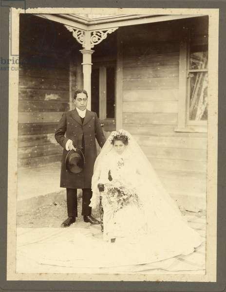 Bride and Groom, c.1925 (silver gelatin print)
