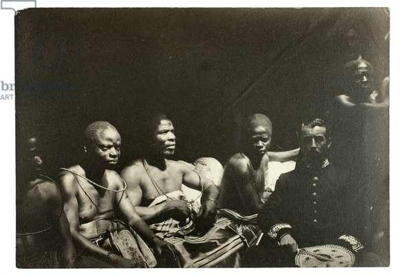 Captain Gallwey and Edo chiefs, Benin, Nigeria, 1892 (gelatin silver print)