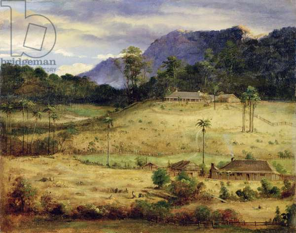 Homesteads, c.1850 (oil on canvas)