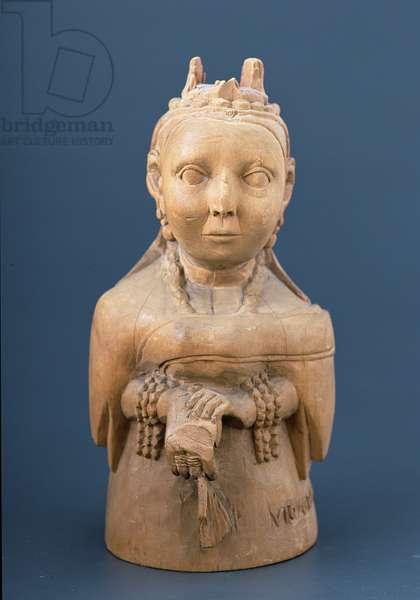 Figure of Queen Victoria, Yoruba, Nigeria, c.1900 (wood)