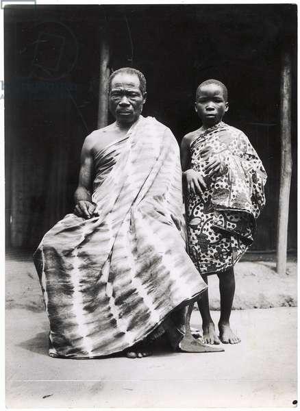 An Ivory-Coast Christian and his son, c.1935 (gelatin silver print)