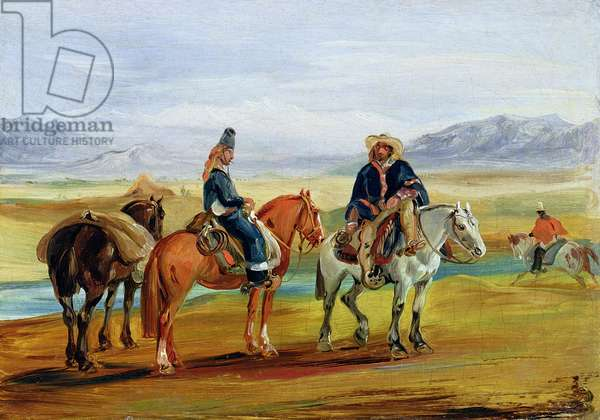 Chilean Huasos, c.1836 (oil on canvas)