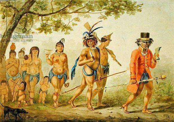 Marche d'une tribu, c.1839 (w/c on paper)