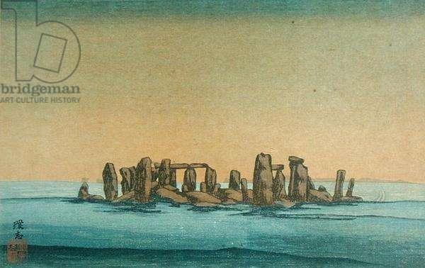 Stonehenge, c.1915 (colour litho)