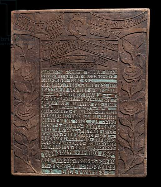 Engagements by Gen. Sir R. Buller, Natal Field Forces, 1899-1902, 1902 (wood with pigment)