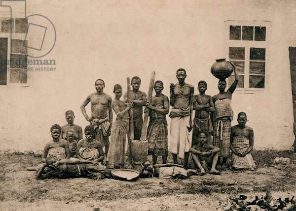 Group of Slaves in Zanzibar, c.1883 (photo)