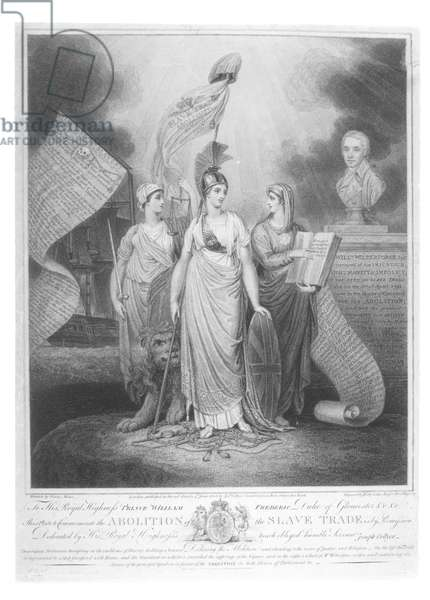 Abolition of the Slave Trade in 1807, engraved by Joseph Collyer (1748-1827), published 1808 (engraving) (b/w photo)