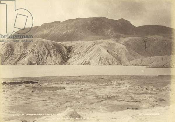 Mt. Tarawera from Te Ariki. After Eruption Jun 10.86, July 1886 (albumen print)