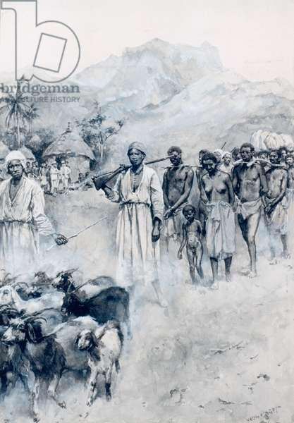 Slave Caravan, 1892 (w/c and gouache on paper) (photo)