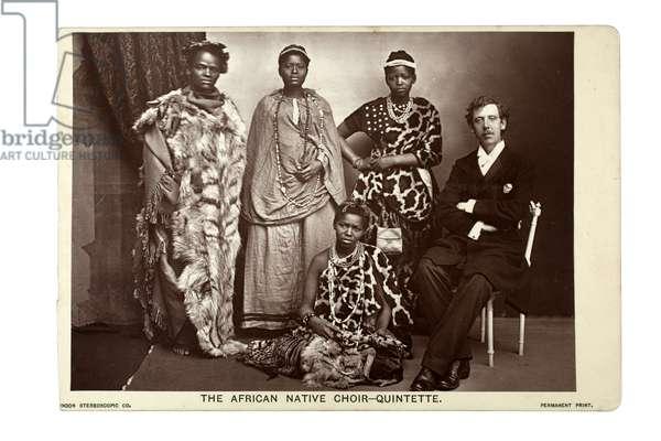 The African Native Choir Quintette, London, c.1892 (carbon print)