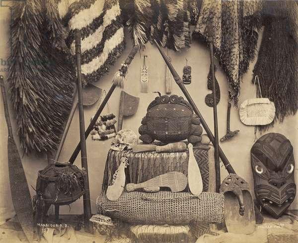 Maori Curios, 1870s (albumen print)