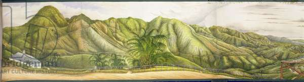 A View Towards Kingston from the Military Sanatorium at Newcastle, Blue Mountains, Jamaica, 1855 (w/c and gouache on paper laid down on canvas)