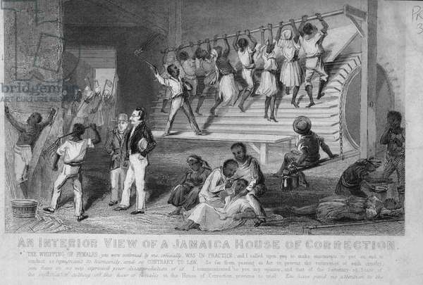 An Interior View of a Jamaica House of Correction, c.1830 (steel engraving)