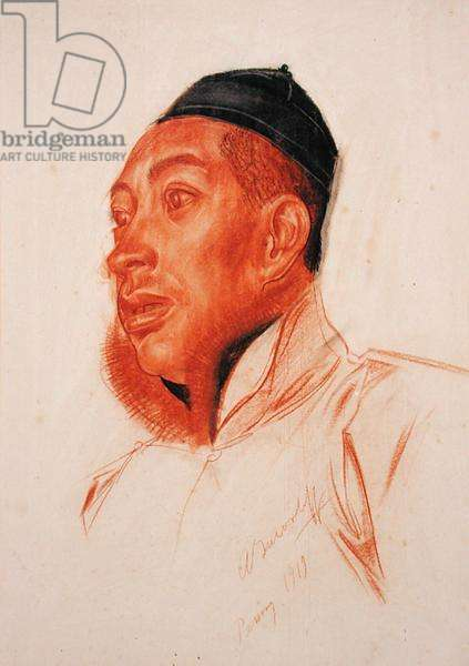 Portrait of a Chinese Man, 1919 (chalk on paper)