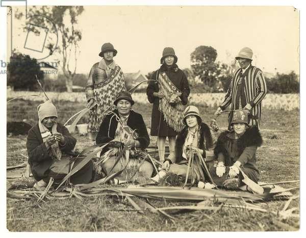 A party of women who taught me Kono Weaving, c.1930 (silver gelatin print)