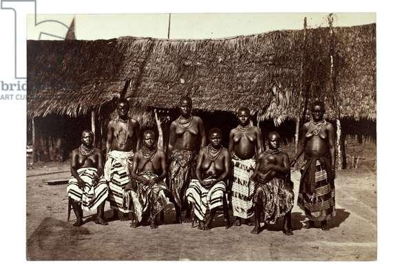 King George's Wives, Opobo, near Calabar, Nigeria, c.1870 (albumen print)
