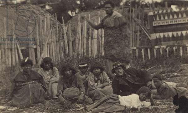 In Pawhakiro Pa, Hawkes Bay, New Zealand, c.1865 (albumen print)