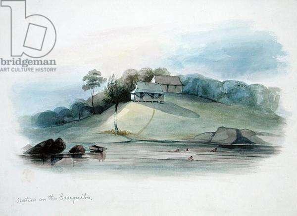 Station on the Essiquibo, British Guyana, c.1840 (w/c on paper)
