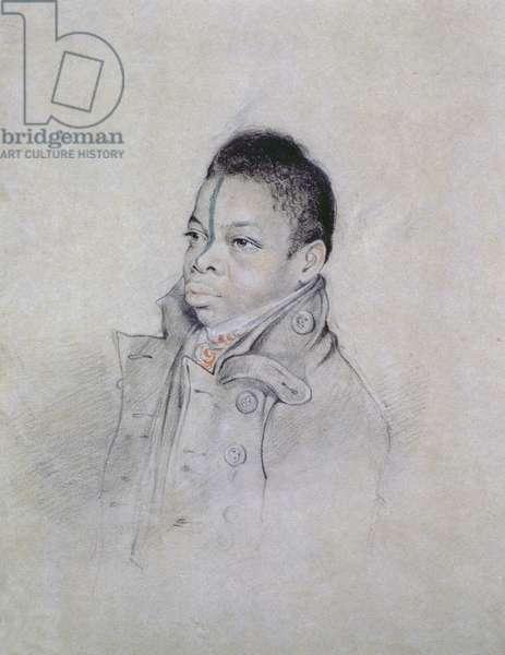 Portrait Study, c. 1840 (pencil & chalk on paper)