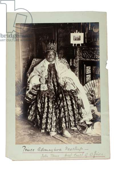 Prince Ademuyiwa Haastrup - Jebu Remo, West Coast of Africa, Nigeria, c.1893 (gelatin silver print)