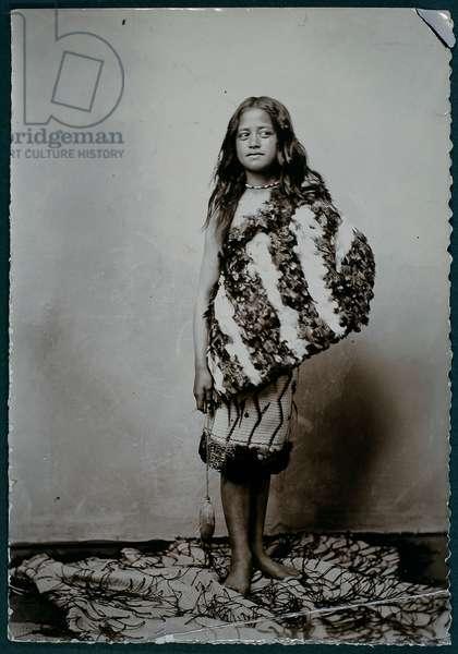 Maori girl (gelatin silver print)