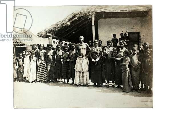 Zappo Zap and some of his wives, Democratic Republic of the Congo, c.1920 (gelatin silver print)