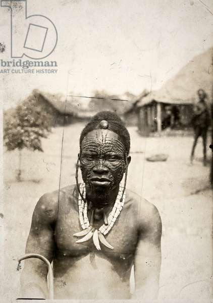Chief of a 'Ngombe' tribe (gelatin silver print)