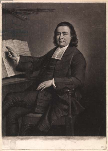 The Reverend Mr Samson Occom, engraved by Jonathan Spilsbury, 1768 (mezzotint)
