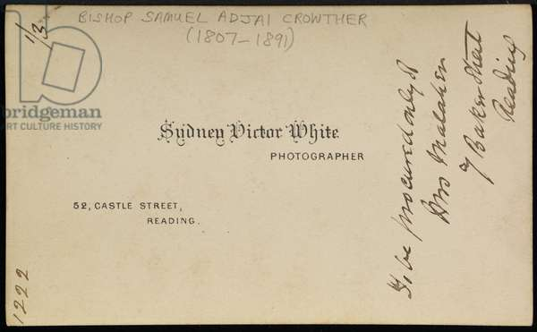 Photographer's imprint, 1870s (verso of 373697) (printed card)