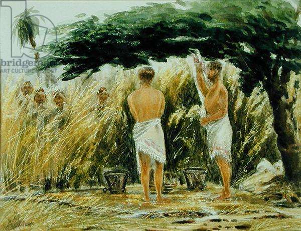 Ablutions, Gambia or Sierra Leone c.1891 (w/c on paper)