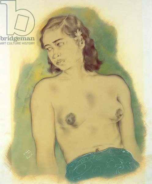 Portrait of a Girl, Tahiti, 1933 (mixed media)