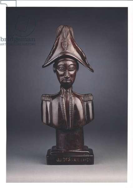 Bust of Jean-Jacques Dessalines (c.1758-1806) (wood)