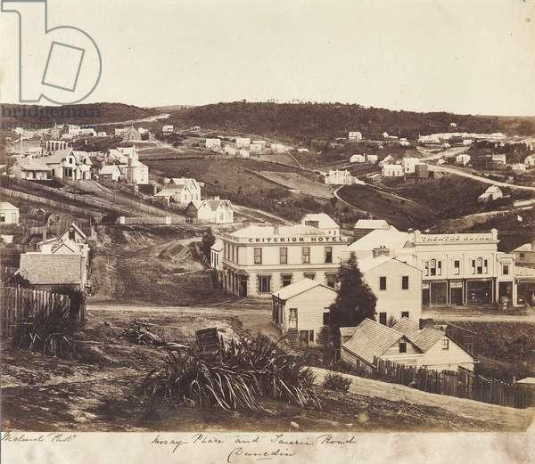 Moray Place and Taieri Road, Dunedin (albumen print)