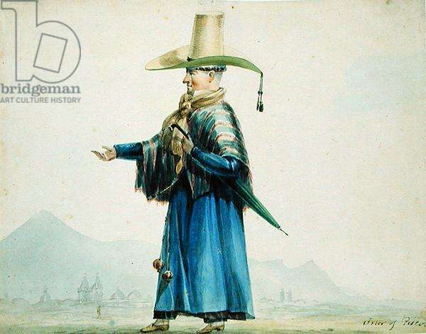 Friar of Pisco, 1828 (w/c on paper)