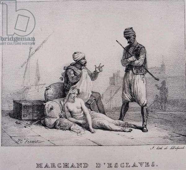 Slave Merchant, published 1820s (aquatint) (b/w photo)